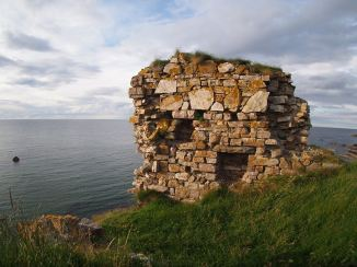 Findlater castle on the Scottish coast